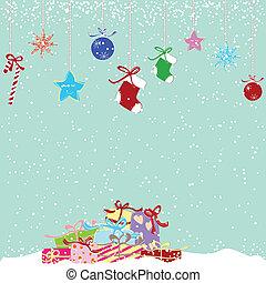 かわいい, カラフルである, クリスマスプレゼント