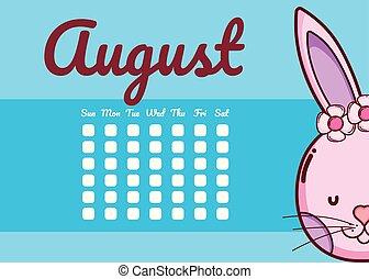 かわいい, カレンダー, 動物