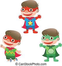 かわいい, スーパーヒーロー, 男の子
