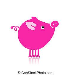 かわいい, デザイン, 小豚, あなたの