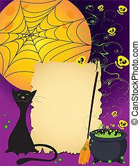 かわいい, ハロウィーン, カード