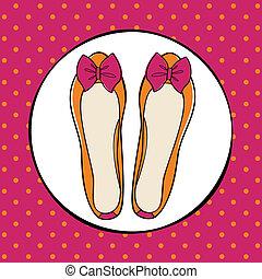 かわいい, バレリーナ, 靴