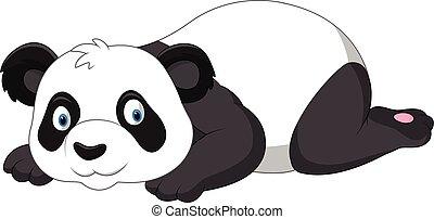 かわいい, パンダ, 漫画