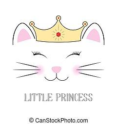 かわいい, ファンタジー, 王女, ねこ