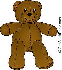 かわいい, ベクトル, 熊, テディ