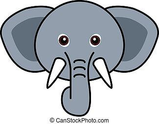 かわいい, ベクトル, 象