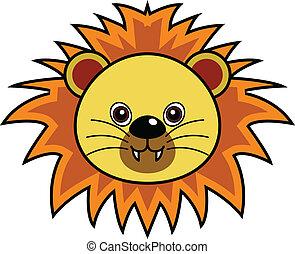 かわいい, ライオン, ベクトル