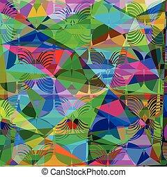 かわいい, 別, カラフルである, purposes., 手ざわり, 多色刷り, 背景, vector., 幾何学的