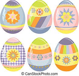 かわいい, 卵, イースター, コレクション