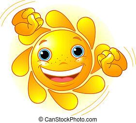 かわいい, 太陽, ダンス