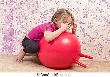 かわいい, 女の子, ∥で∥, 体操の球技