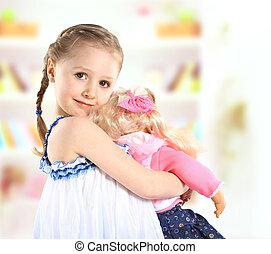 かわいい, 女の子, ∥で∥, a, 人形