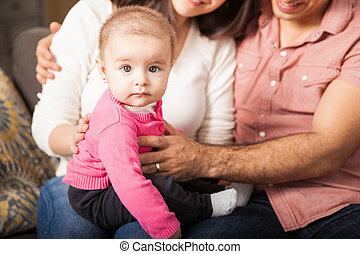かわいい, 女の赤ん坊, ∥で∥, 彼女, 親