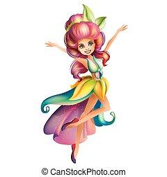 かわいい, 妖精, 特徴, カラフルである