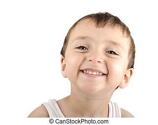 かわいい, 寄付, 無実, 微笑, 肖像画, あなた, 子供