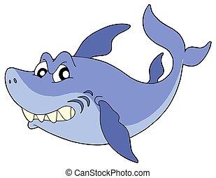 かわいい, 微笑, サメ
