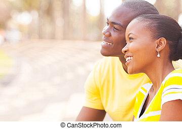 かわいい, 恋人, デートする, アフリカ