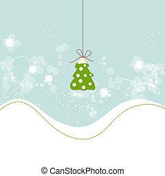 かわいい, 木, クリスマス