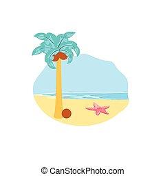かわいい, 浜, 動物, ヒトデ