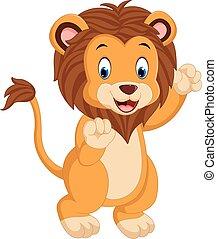 かわいい, 漫画, ライオン