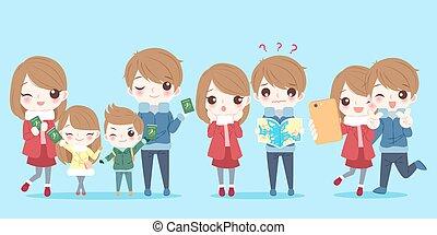 かわいい, 漫画, 家族