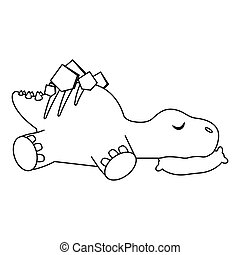 かわいい, 漫画, 恐竜