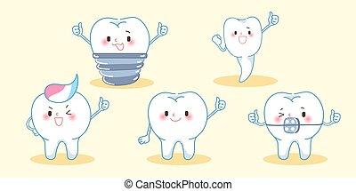かわいい, 漫画, 歯