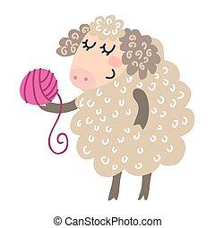 かわいい, 漫画, sheep