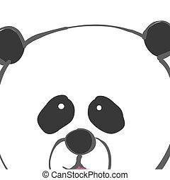 かわいい, 熊, イラスト