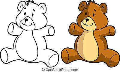 かわいい, 熊, 人形