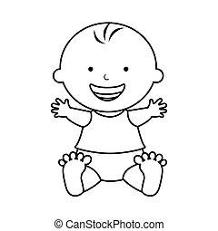 かわいい, 男の赤ん坊, 特徴