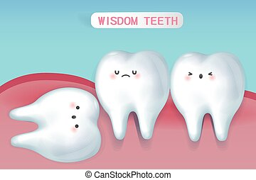 かわいい, 知恵, 漫画, 歯