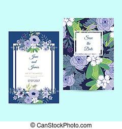 かわいい, 結婚式, テンプレート, 招待