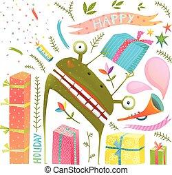 かわいい, 芸術, モンスター, クリップ, カエル, プレゼント, コレクション, 漫画, 休日