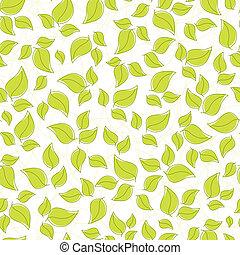 かわいい, 葉, seamless, 背景