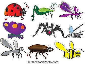 かわいい, 虫, 面白い, かぶと虫