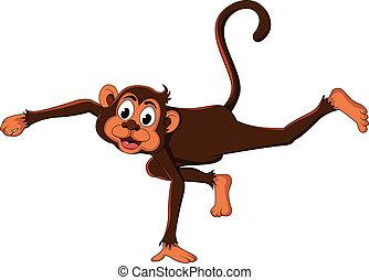 かわいい, 表現, サル, 漫画