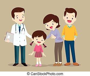 かわいい, 訪問, 家族 医者