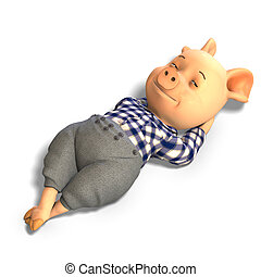 かわいい, 豚, 漫画, 衣服