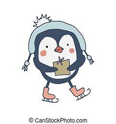 かわいい, 贈り物, ペンギン