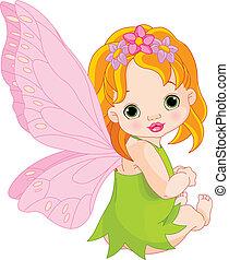 かわいい, 赤ん坊, 妖精