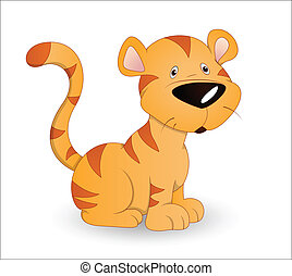 かわいい, 赤ん坊, tiger
