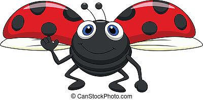 かわいい, 飛行, 漫画, てんとう虫