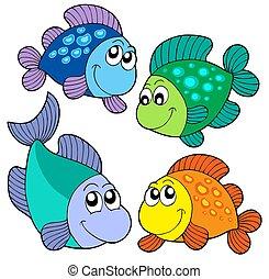 かわいい, 魚, セット