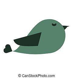 かわいい, 鳥, 漫画, アイコン