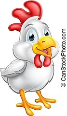 かわいい, 鶏, 漫画