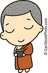 かわいい, buddhist 修道士