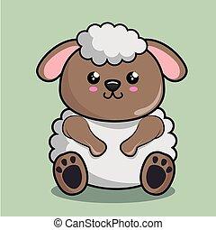 かわいい, sheep, 特徴, kawaii, スタイル