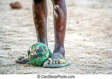 かわいそうな少年, フットボール, アフリカ