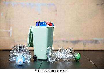 がらくた, リサイクル, 減らしなさい, プラスチック, 環境, 節約